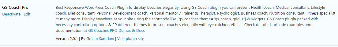 Activate GS Coach