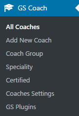GS Coaches Menu